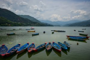 Boats on Phewa lake Pokhara